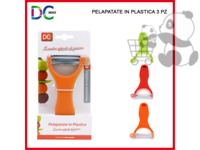 Pelapatate in plastica 3pz set